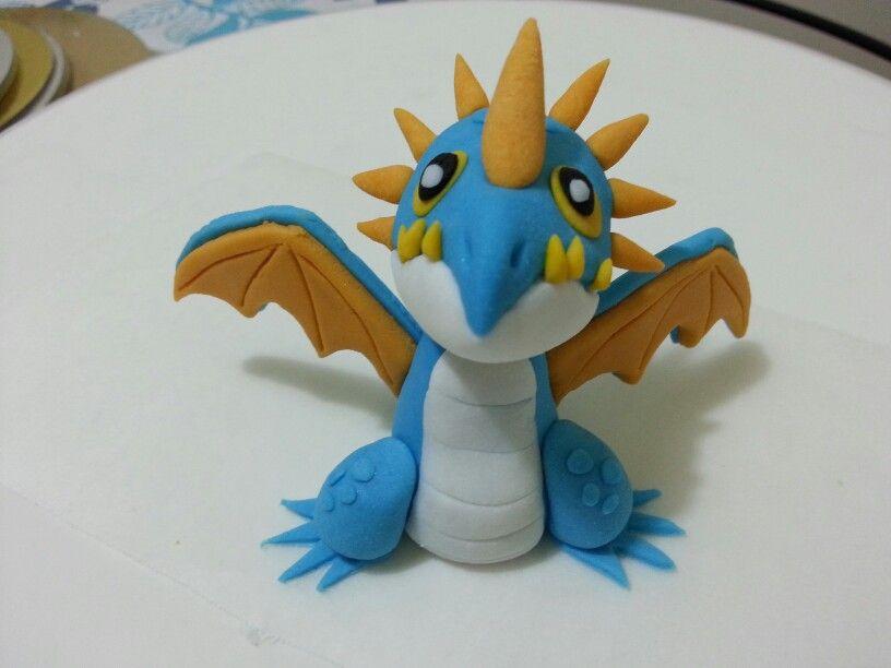 how to make a fondant dragon cake topper