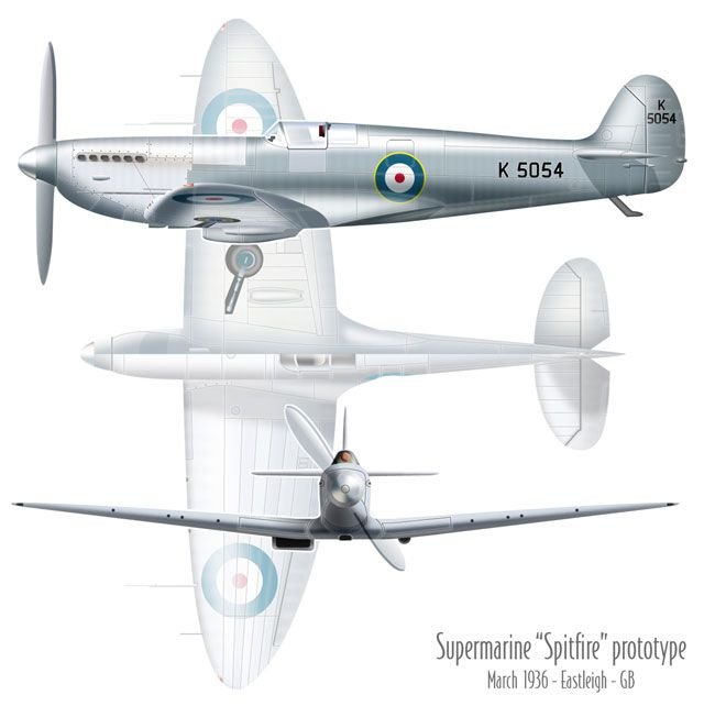 "6th March 1936 ""Spitfire"" Prototype K 5054"