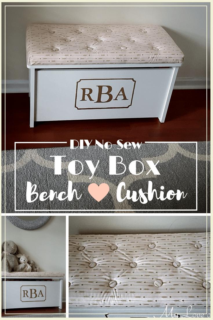 Diy No Sew Toy Box Bench Cushion Diy Toy Box Bench Diy Toy Box