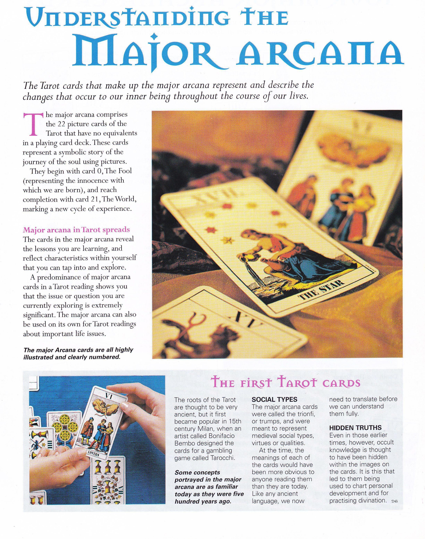 Divination tarot understanding the major arcana