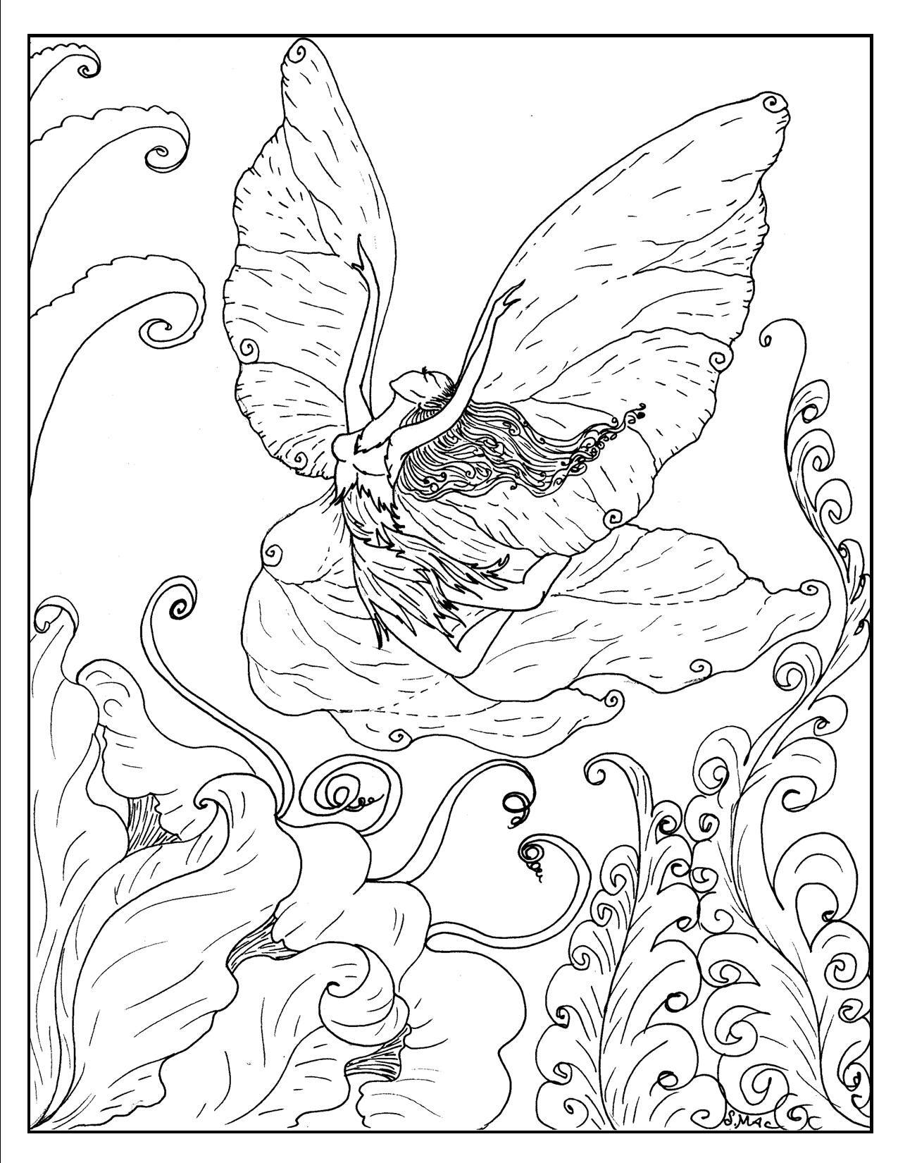 Beautiful Unicorn Head Coloring Page Fairy Coloring Unicorn Coloring Pages Fairy Coloring Book