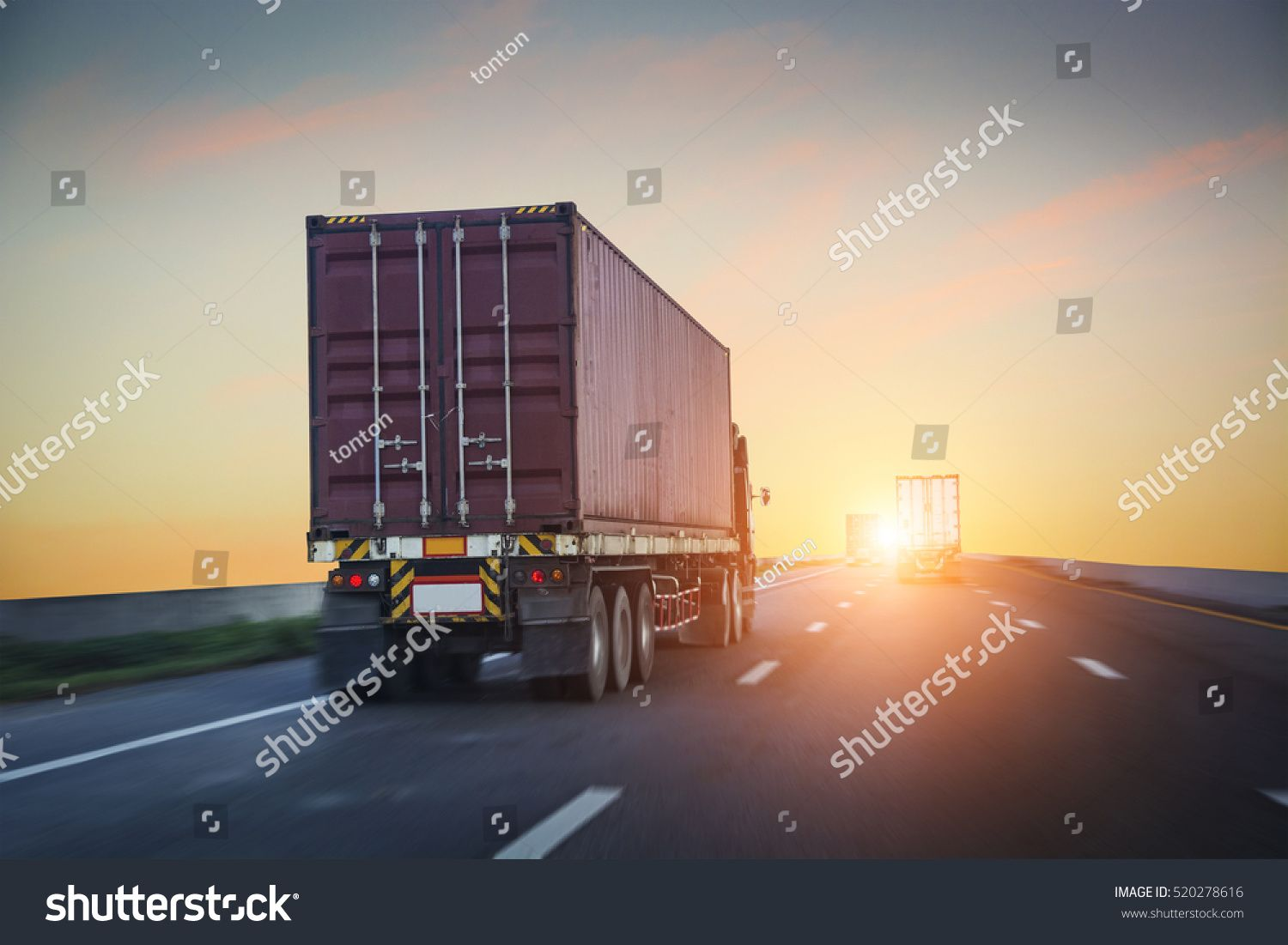 Logistic by container truck sponsored affiliate