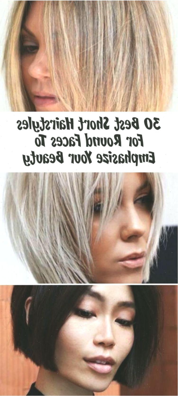 30 beste kurze frisuren für runde gesichter, zum ihrer