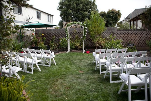 Backup Plans For Your Outdoor Wedding: Small Backyard Wedding