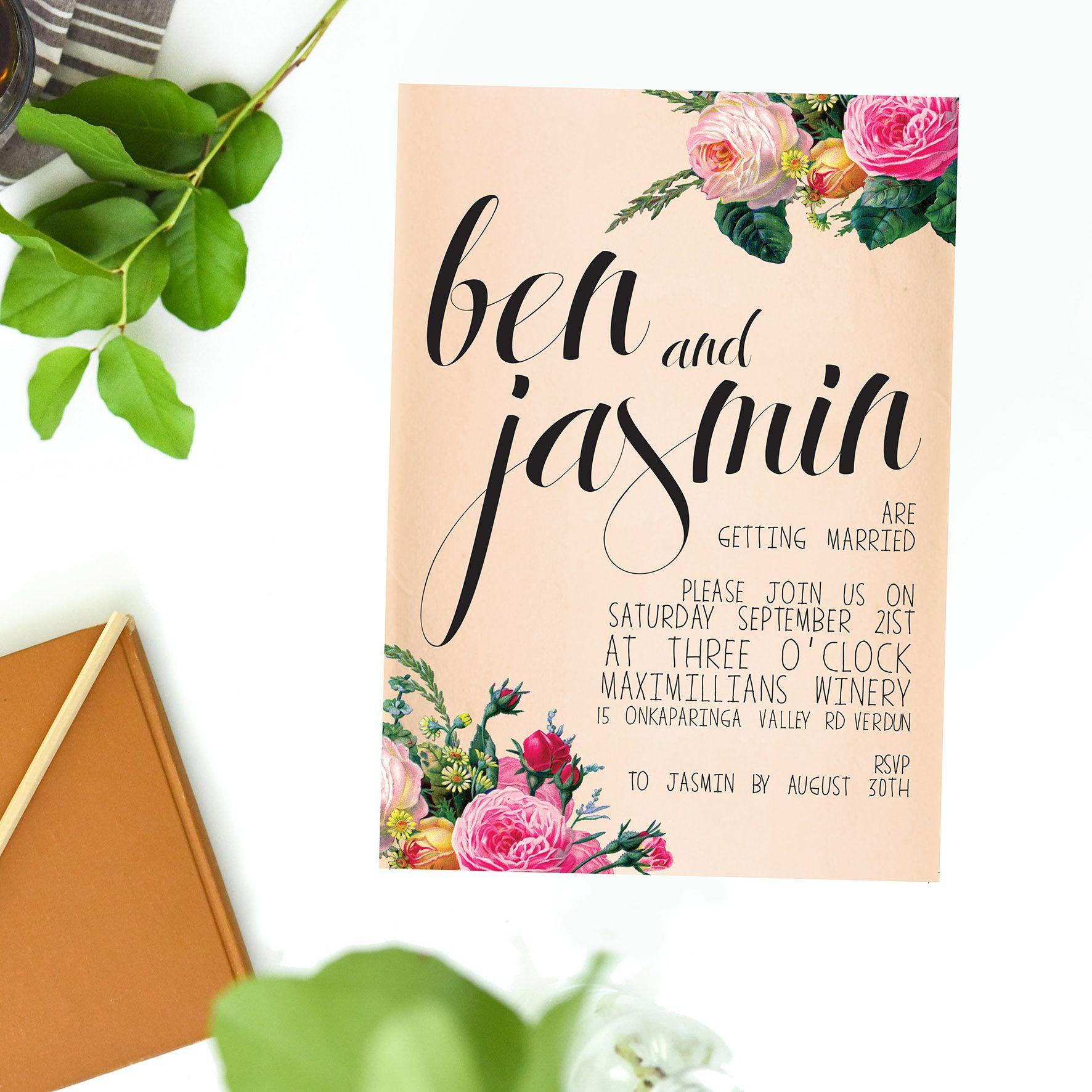 Online Shop - Floral Wedding Invitations   Floral wedding, Wedding ...