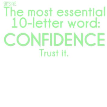 The most CONFIDENCE Cultivating Confidence
