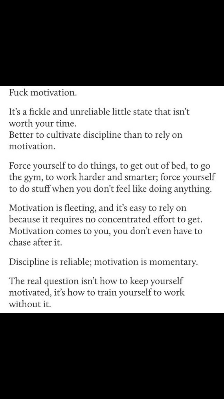 What if there is no motivation 14