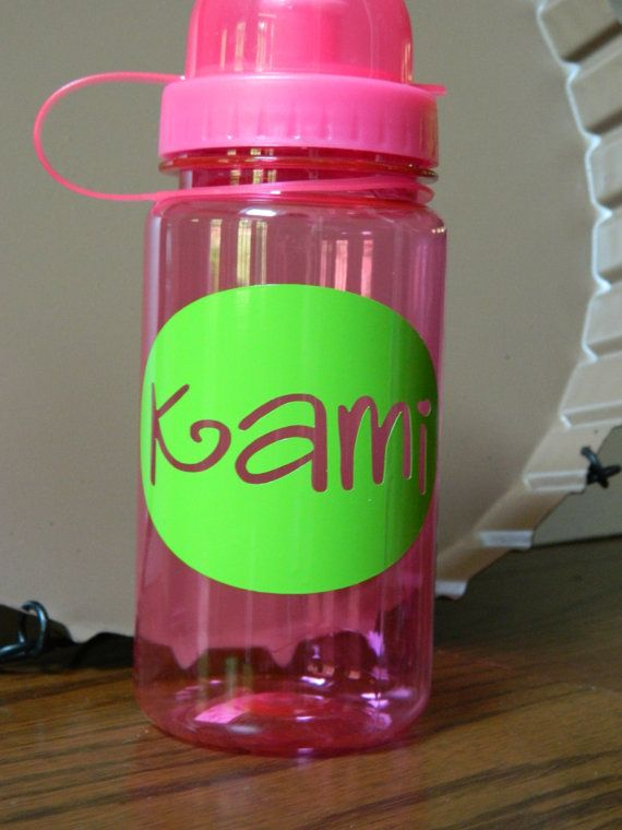 Vinyl name for kids toddlers cups bottles or sippy cups permanent vinyl will stick to