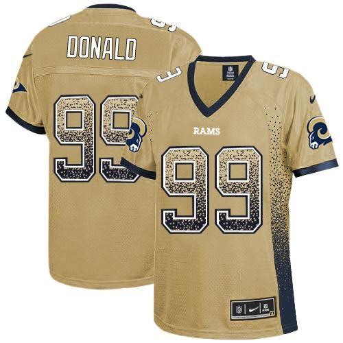 6b3b08a5d cheapest mens nike aaron donald navy los angeles rams game jersey 15d84  0e0cf; new style nike rams 99 aaron donald gold womens stitched nfl elite  drift ...