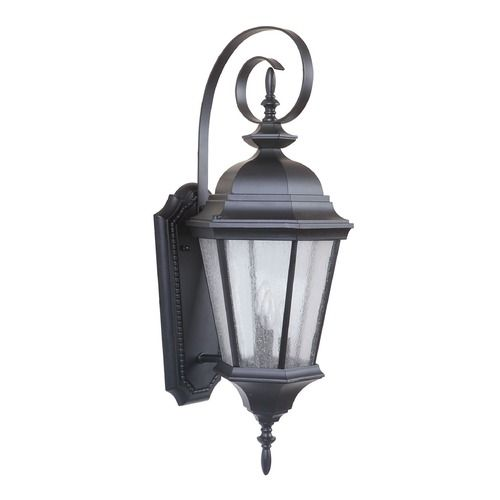 Seeded Glass Outdoor Wall Light Black Craftmade Lighting Outdoor Sconces Outdoor Wall Lighting Sconces