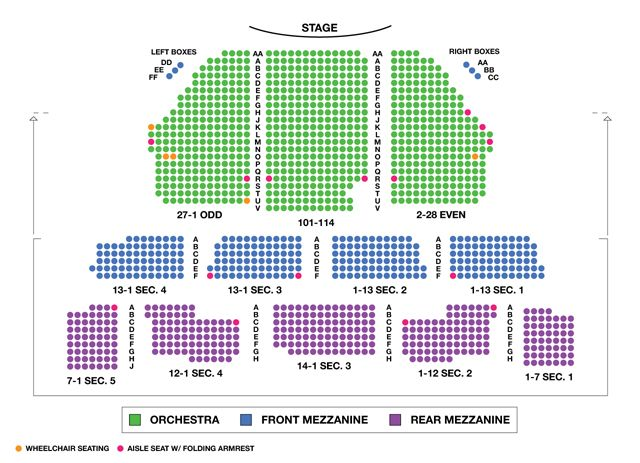 Imperial Theatre Broadway Seating Charts Broadwayworld Com Imperial Theater Seating Charts Theater Seating