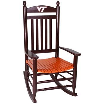 Hinkle Chair Company - Virginia Tech Hokies Rocking Chair  Hokies ...
