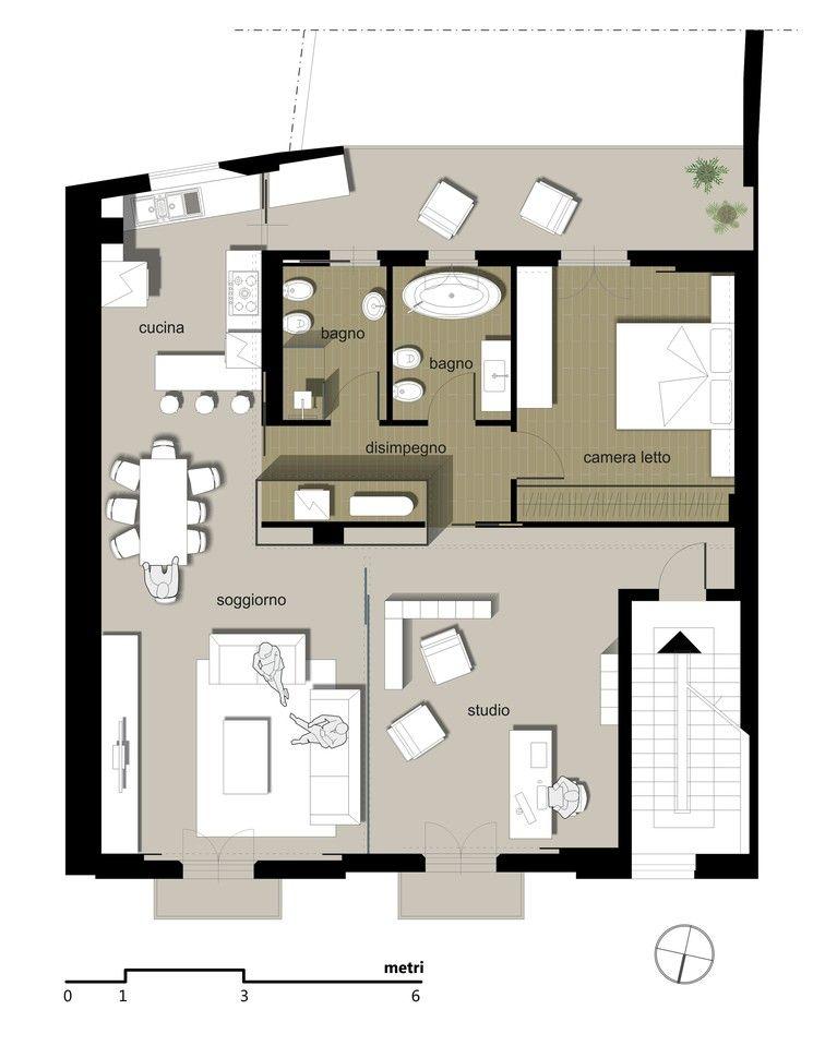Ristrutturazione di un appartamento pianta belpasso for Progetti di ristrutturazione appartamenti