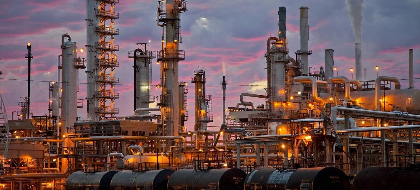 Another Shot Of The Refinery Oilfield Oil And Gas Libya