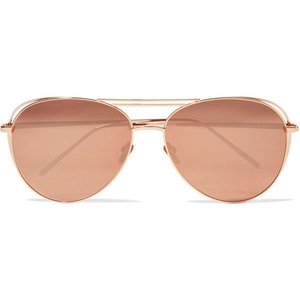 mirrored sunglasses - Metallic Linda Farrow