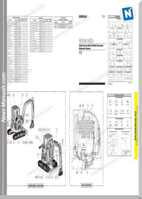 Caterpillar 304C 305C Cr Mini Excavator Wiring Diagram