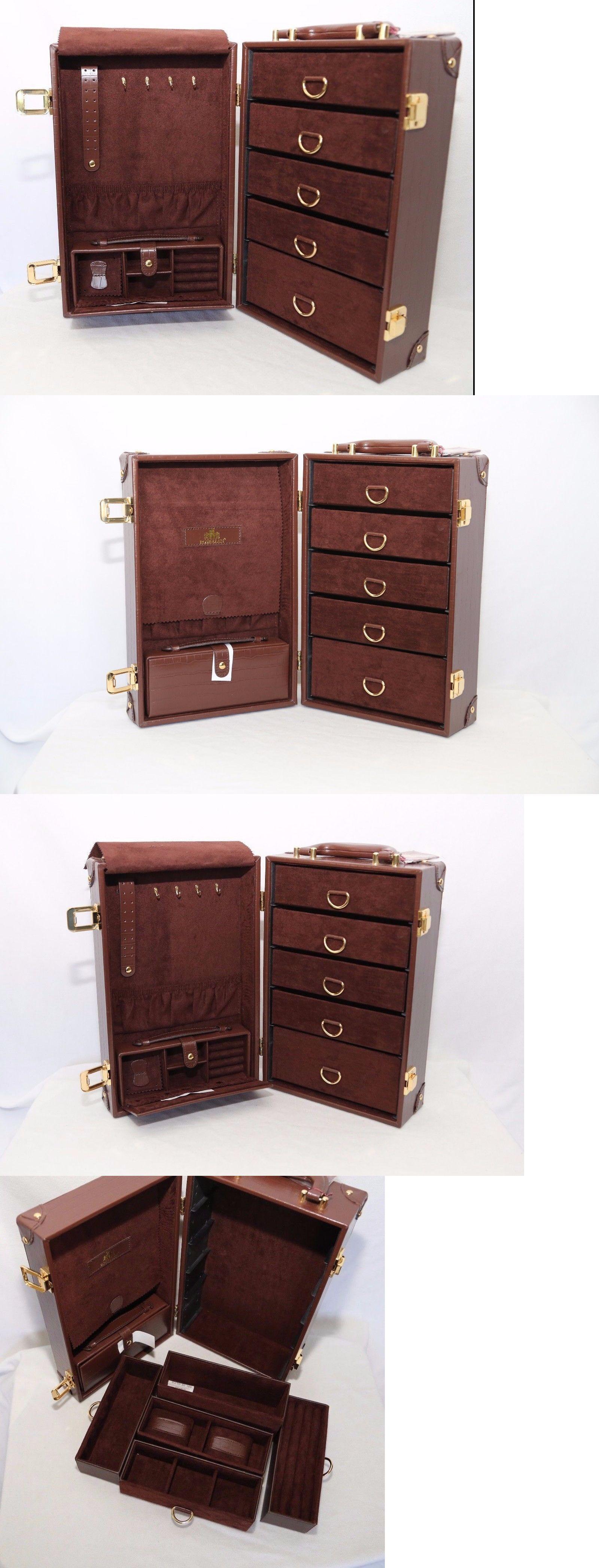 Jewelry Boxes 3820 Rowallan Of Scotland Brown Genuine Bonded