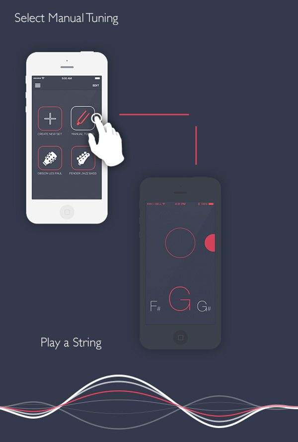 Mobile App Design Inspiration Roadie Chromatic Tuner