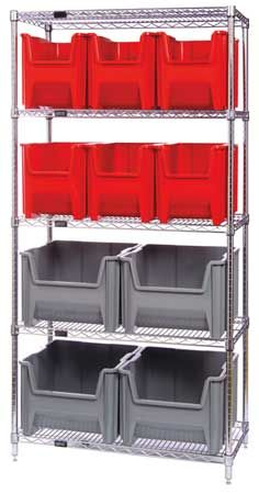 "Quantum Storage Systems Wr5-600800Bl Bin Shelving,74"" Overall H,10 Bin"