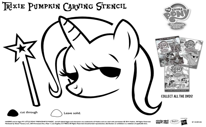 DVDs for Kids + Free Printable My Little Pony Pumpkin Stencil | Free ...