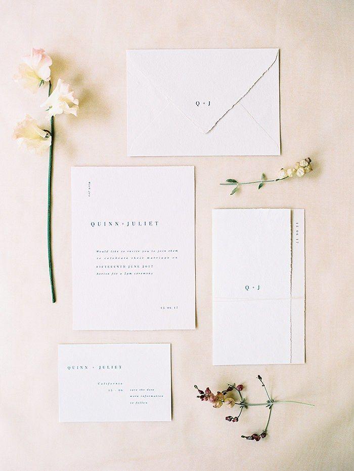 10 Super Chic Minimalist Wedding Invitations