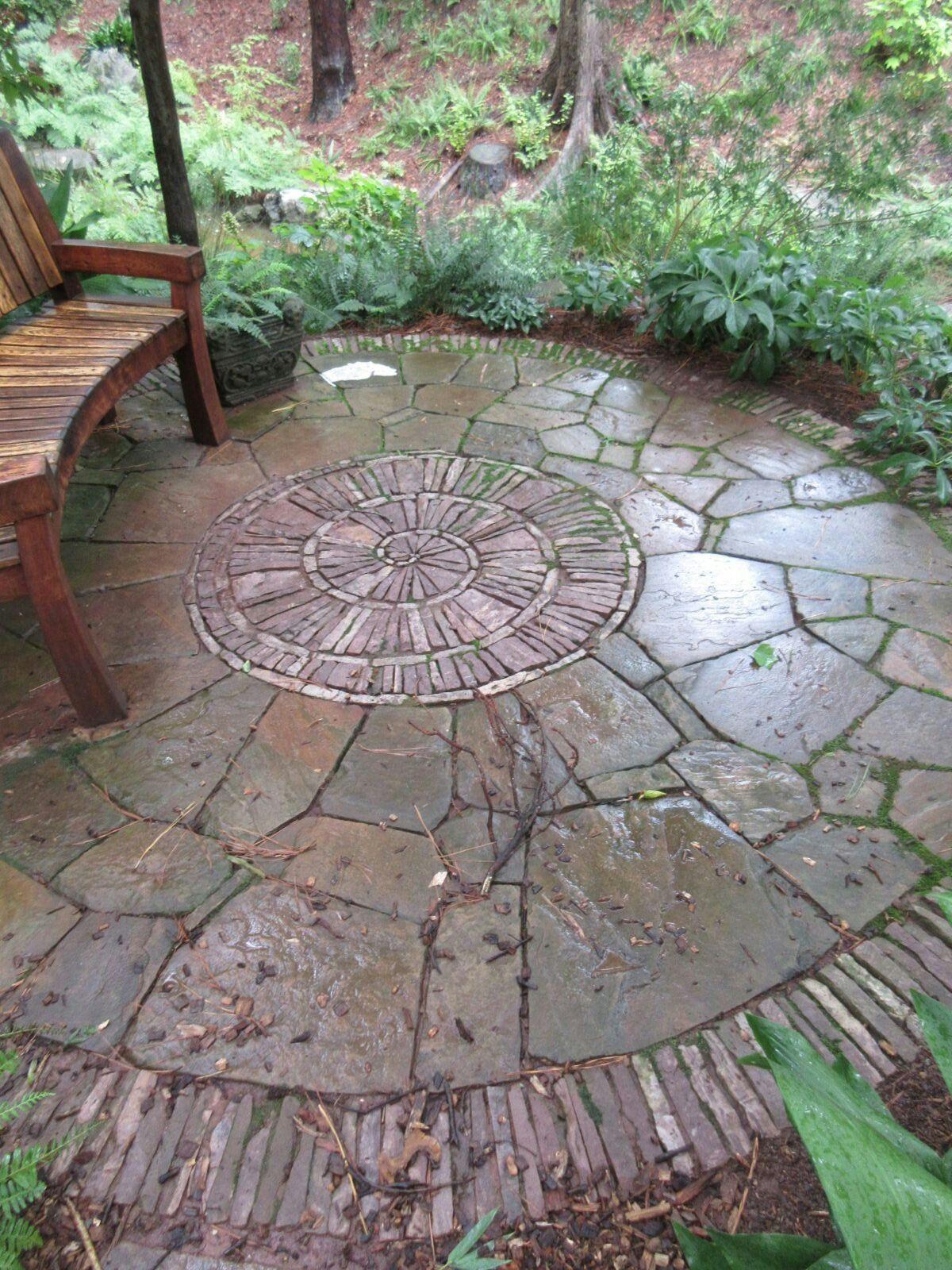 Paving detail at Duke Gardens   Botanical gardens ...