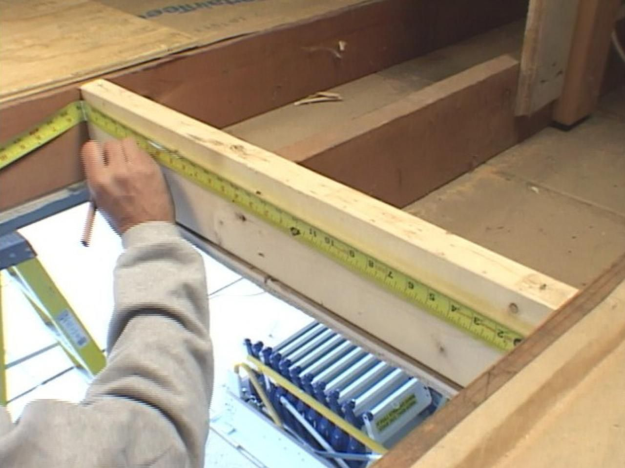 How To Install Trapdoor Stairs Attic Remodel Attic Rooms Attic Renovation