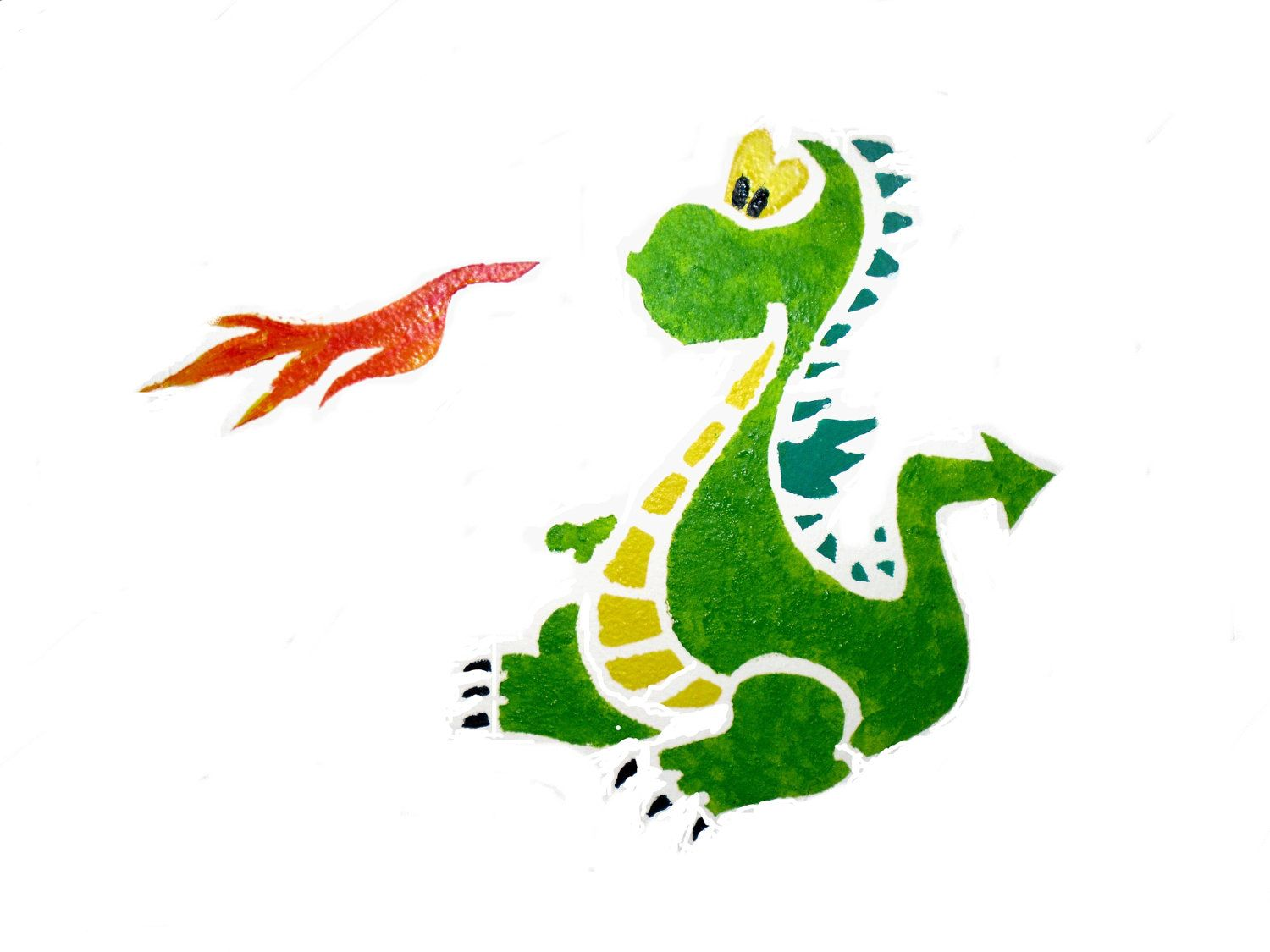 Dragon wall stencil paint and decorate your childs bedroom or dragon wall stencil paint and decorate your childs bedroom or babys nursery different sizes amipublicfo Choice Image