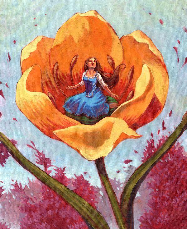 Thumbelina . | fairy tales in 2019 | Fairytale art, Art ...