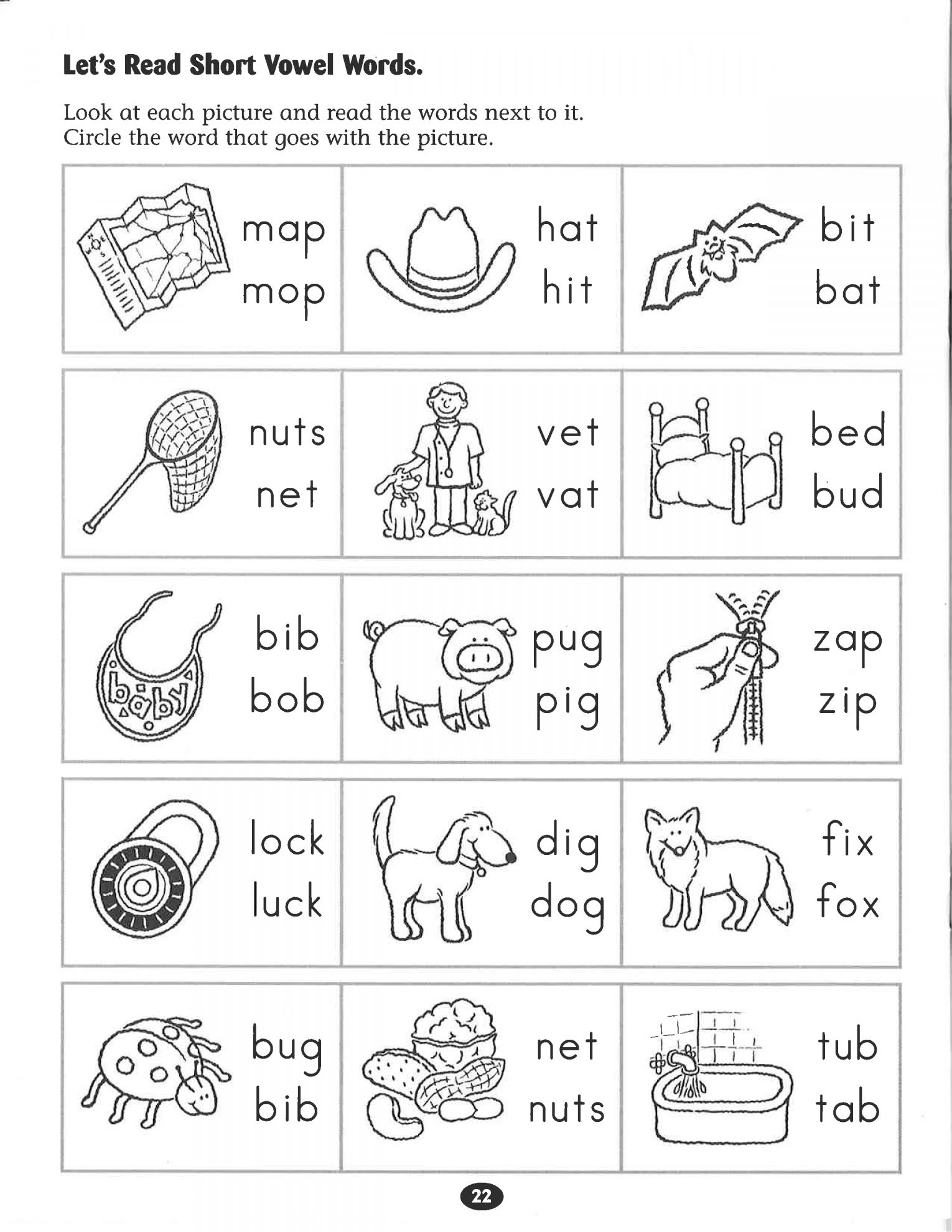 15 Preschool Worksheet With Short Words In