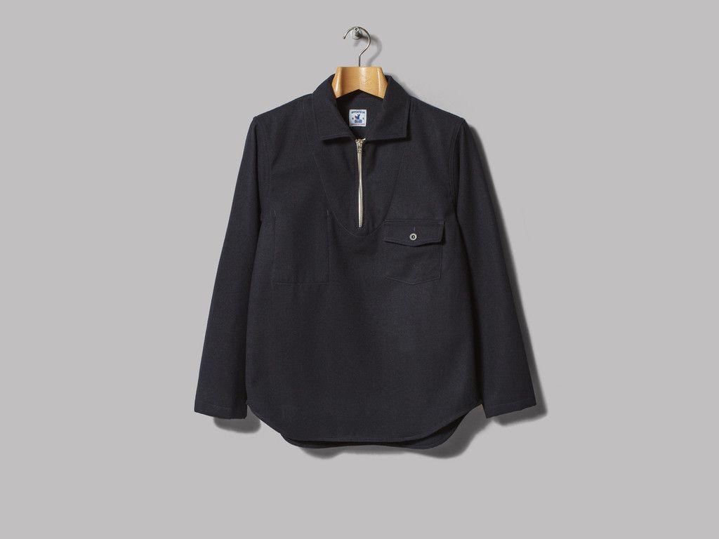 Arpenteur Goémon Smock (Navy Wool/Cotton Serge)