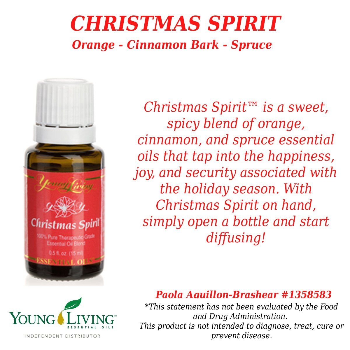Young Living Essential Oils Christmas Spirit. Contact me with any ...