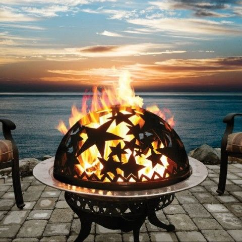 Mike Would Have Loved This Fire Pit With The Starry Globe Perfect For His Star Parties 3 Fire Pit With Rocks Outdoor Fire Fire Pit Backyard