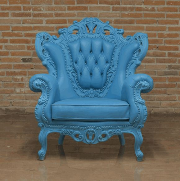 Too Much Blue,...but Amazing Chair