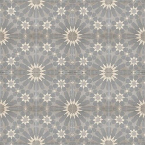 Moroccan Encaustic Cement Pattern Grey Tile Gr11 163 2 49