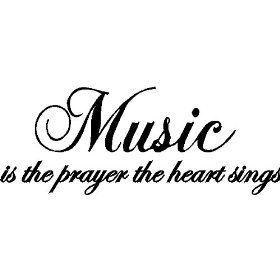 Music Wall Quote Words Removable Music Wall Decal Lettering, Black