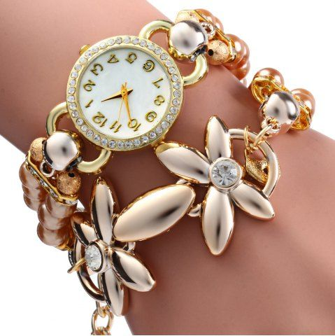 GET $50 NOW | Join RoseGal: Get YOUR $50 NOW!http://www.rosegal.com/watches/women-pearl-rhinestone-flower-bracelet-324909.html?seid=8390346rg324909