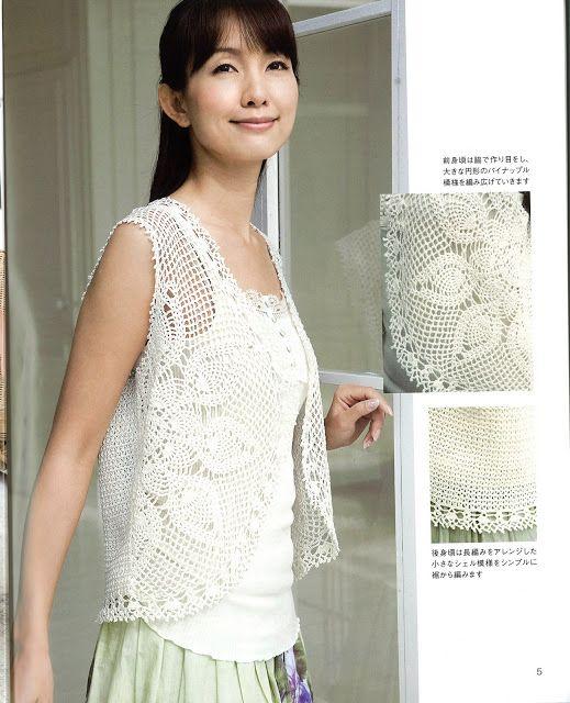 PATRONES JAPONESES | Crochet tejidos | Chalecos y Pullovers ...