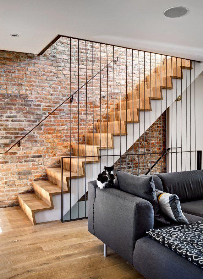 Une maison en briques rouges à Brooklyn Escalier Pinterest