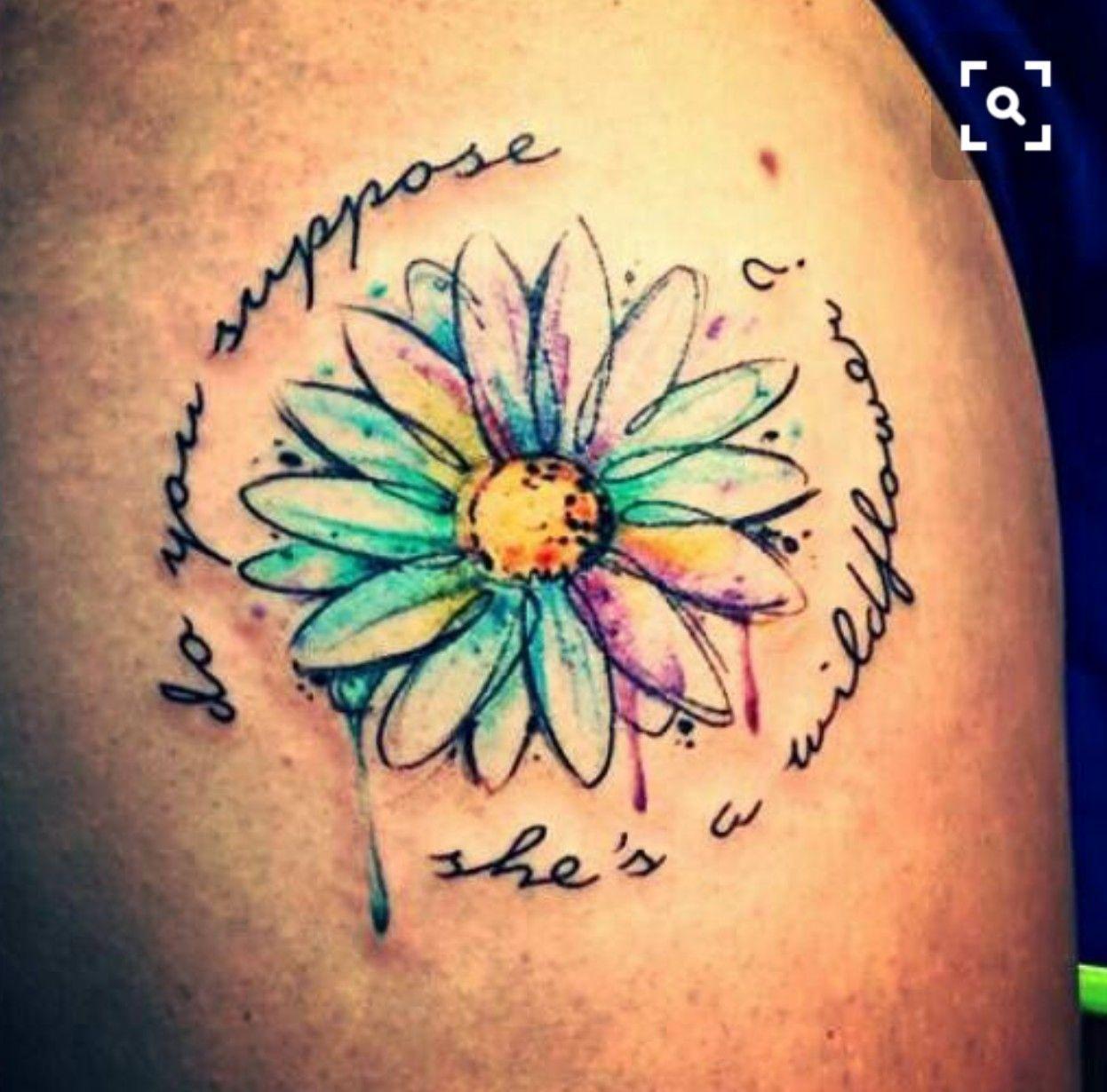 Pin by Sally Robbins on Tattoos Daisy tattoo, Tattoos