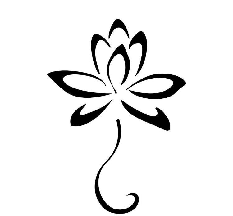 lotus blume mit tribal design logo pinterest tattoo ideen t towieren und plotten. Black Bedroom Furniture Sets. Home Design Ideas