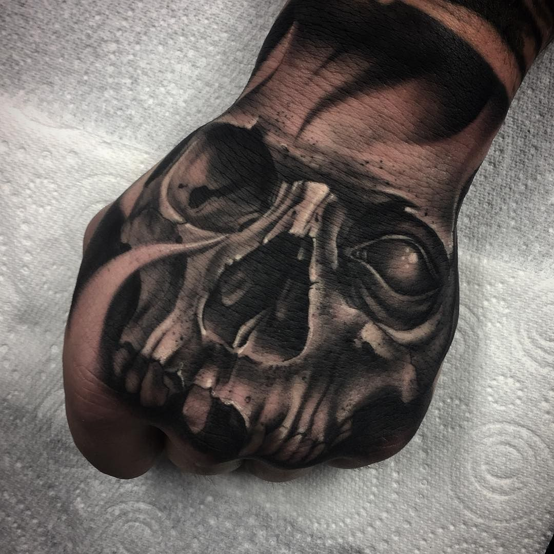 Pin by Nathan Seagroves on Tattoo hand Skull sleeve