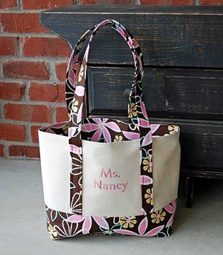 Free Bag Pattern and Tutorial - Tote Bag   Tote Bags   Pinterest ...