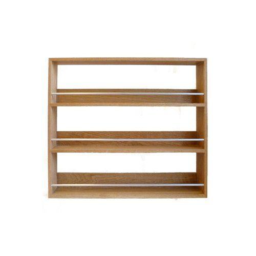 Woodworking Plans For Kitchen Spice Rack: Solid Oak Wooden Spice & Herb Rack Kitchen Display 3