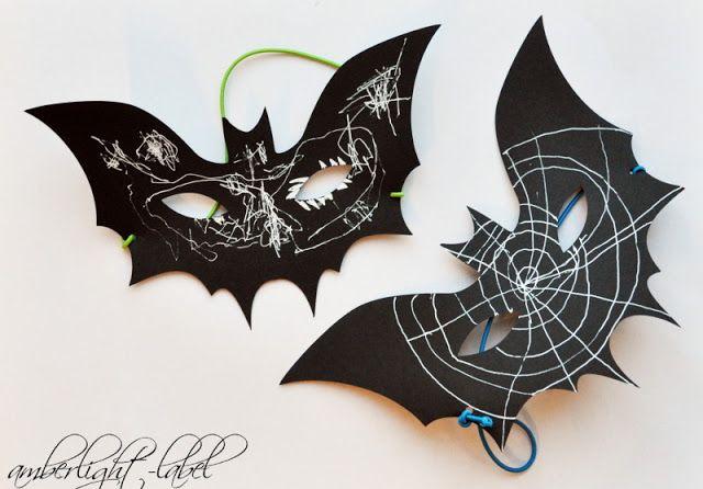 Halloween Maske Fledermaus Halloween Masken Basteln Basteln Halloween Halloween Skelett