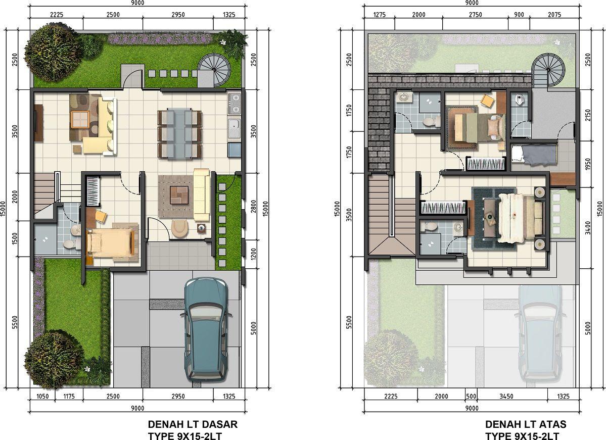 Oleana 9x 15 113m2 1 Jpg 1199 871 Arsitektur Denah Rumah Denah Lantai
