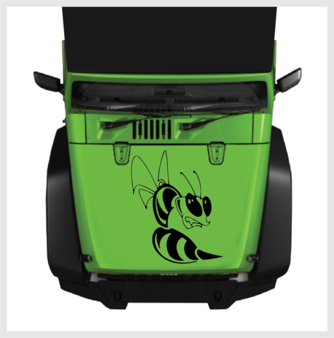 Bee Hood Body Decal Universal Fit H Top Choice Decals - Jeep hood decalsall that wander are not lost compass jeep hood decal sticker