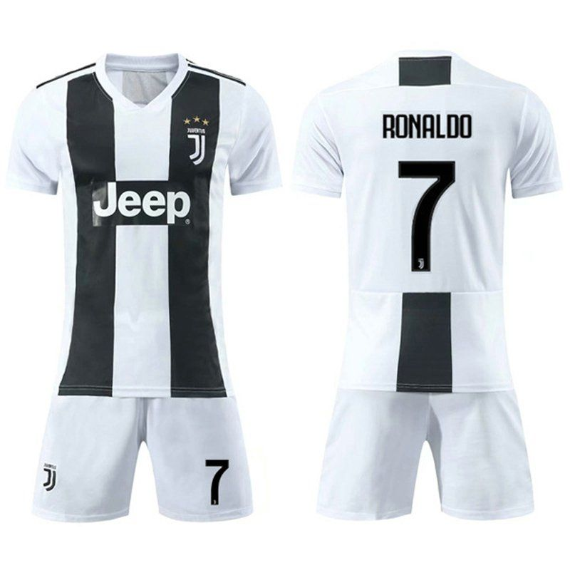 innovative design 96c70 1a468 Cristiano Ronaldo Soccer Home Jersey CR Juventus Shirts Club ...