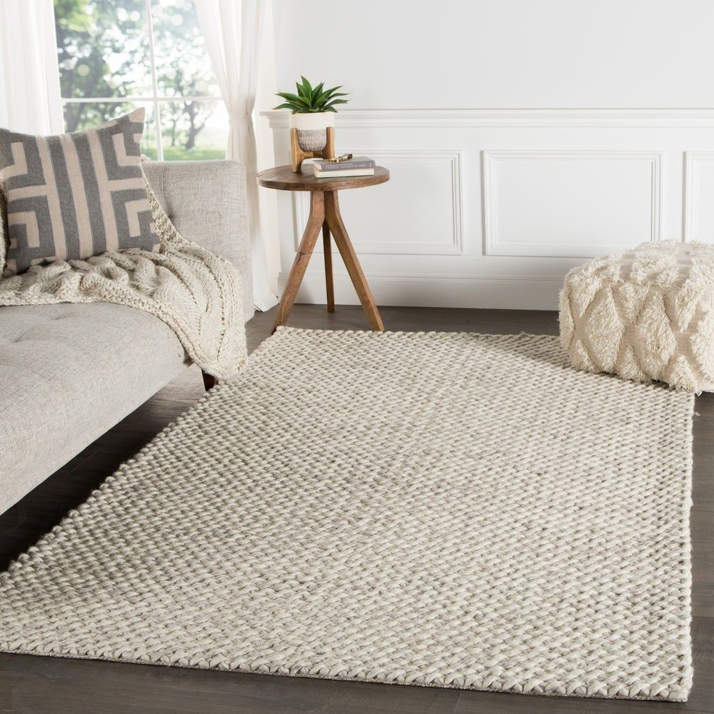 Thurstan Handmade Solid Gray White Area Rug 8 X 10 7 10 X 9 10 7 10 X 9 10 Grey White Juniper Home Beige Area Rugs Area Rugs For Sale Area Rugs