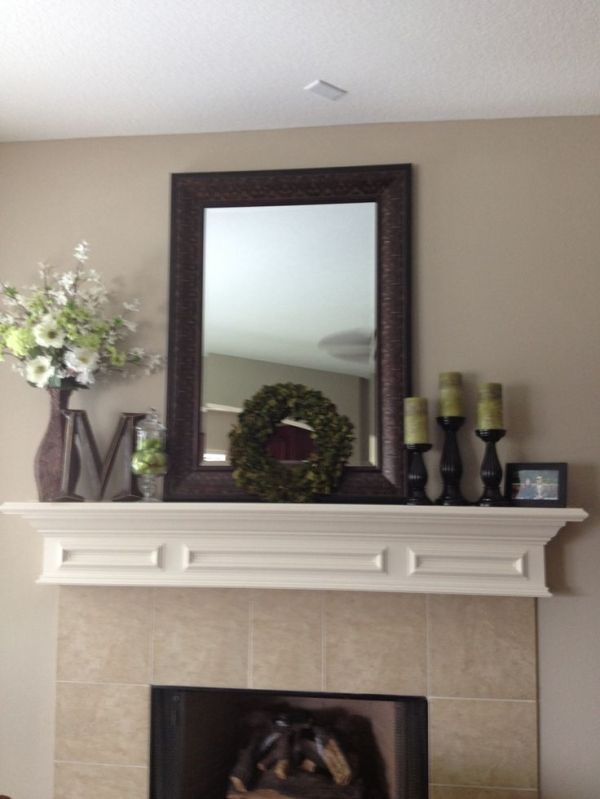 Mantle decor by me by sacagawea interiors home decor - Decor above fireplace mantel ...